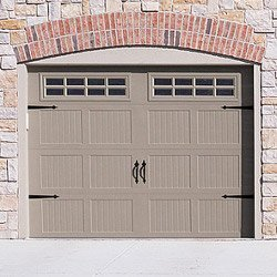 Chi stamped steel carriage garage door 5216 5916 atlanta for Carriage style garage doors kit
