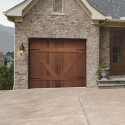 Clopay Reserve Collection Wooden Carriage Style Garage