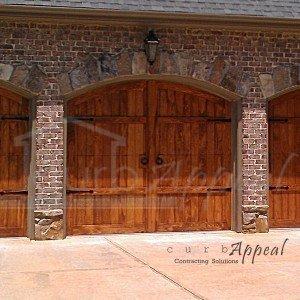 Refaced carriage style garage door.