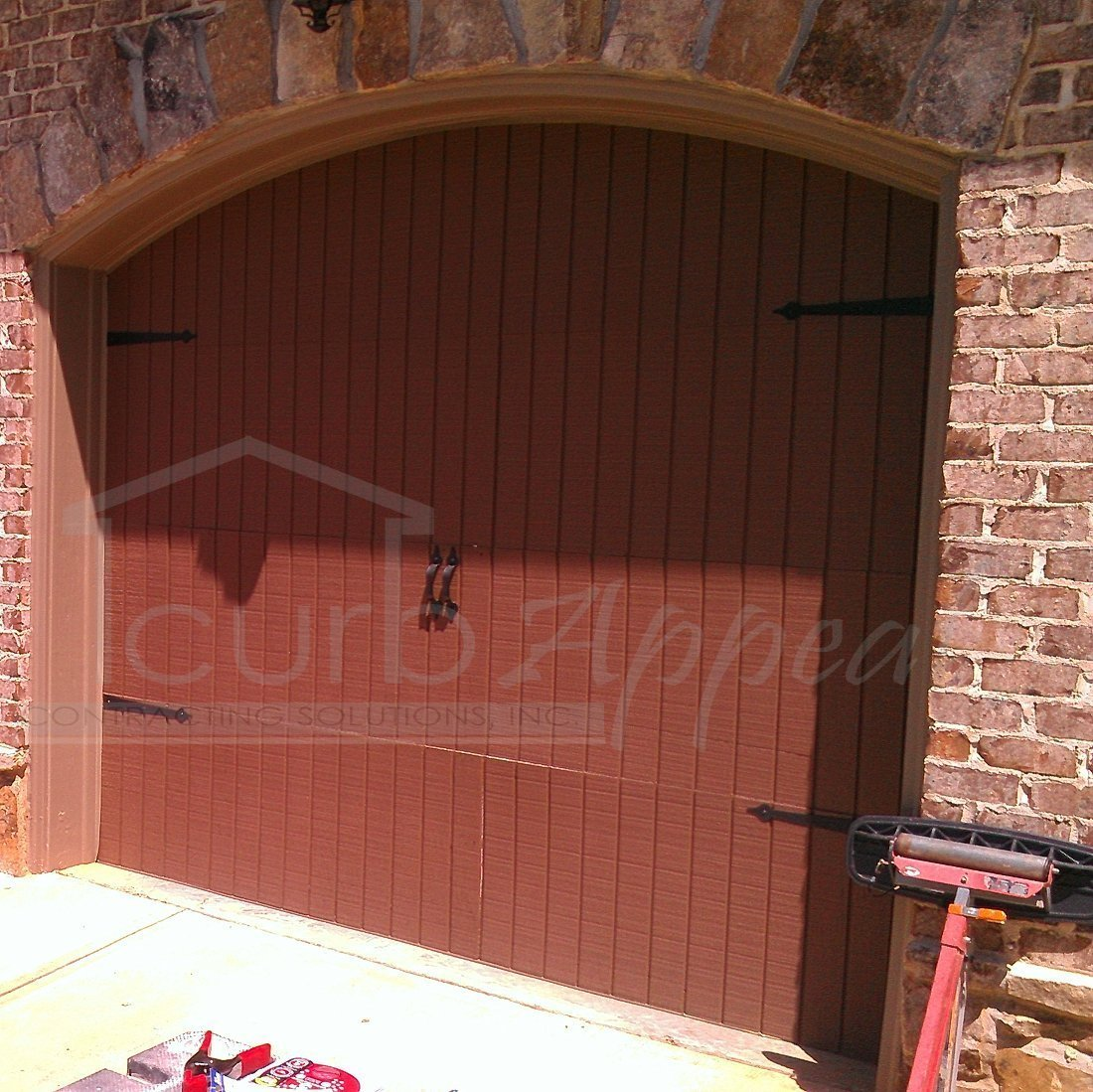 reface garage door refaced carriage style garage door