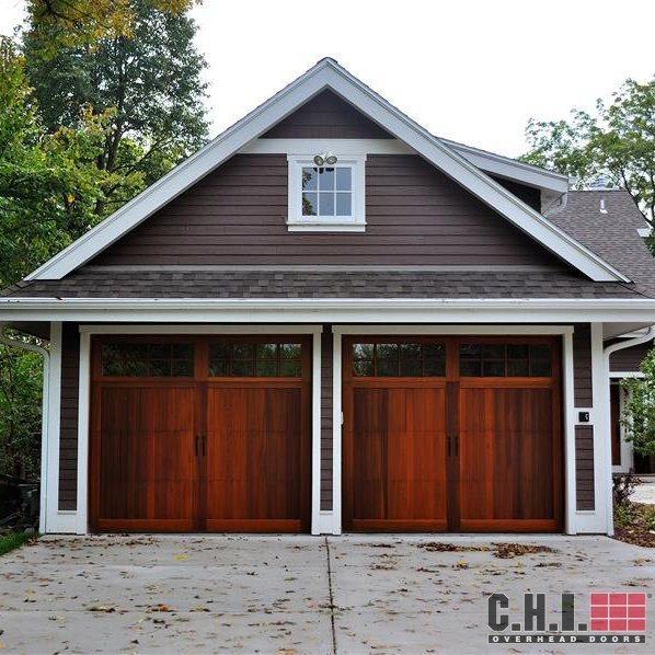 Wood look garage door carriage garage doors for atlanta ga for Cedar wood garage doors price