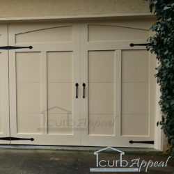 Carriage style overlay garage door atlanta