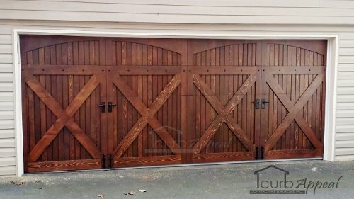 Cedar Overlay Carriage Door & Carriage Doors: Carriage Style Garage Doors Installed In Metro Atlanta